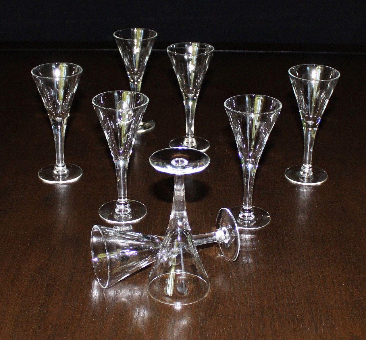 Vintage, Set of 6, Oval, Dot, Cordial Glasses, Atomic Liquor Glasses  https://www.etsy.com/listing/399578963/vintage-set-of-6-oval-dot-cordial