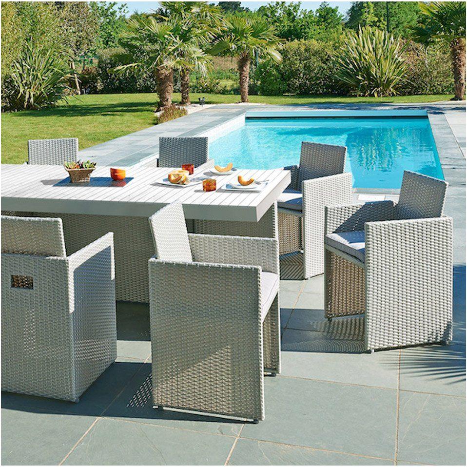 Salon De Jardin Mediterranee Resine Tressee Gris 1 Table 8 Fauteuils E Tableexterieur