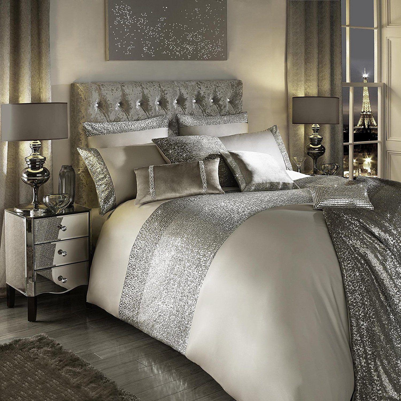 kylie minogue at home 100 coton 200 fils motif parure de lit super king size housse de couette. Black Bedroom Furniture Sets. Home Design Ideas