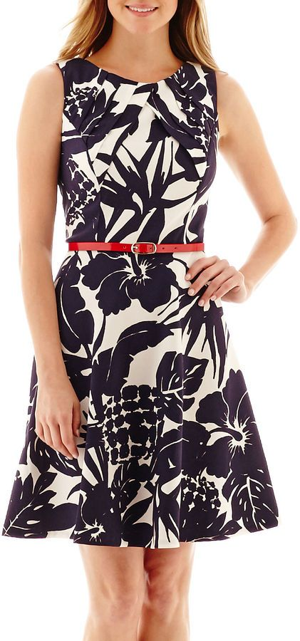 Alyx Sleeveless Belted Fit And Flare Dress Petite Must