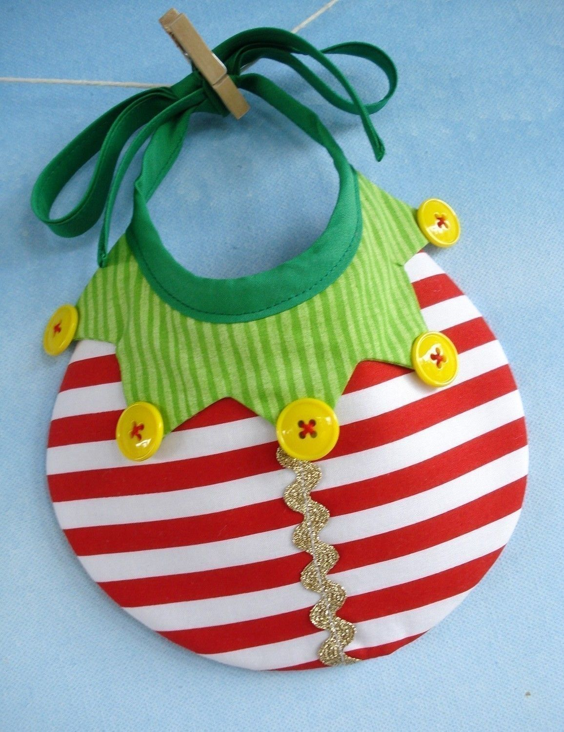 Christmas Baby Bib Sewing Pattern for Elf, Tree and Ornament - PDF ...