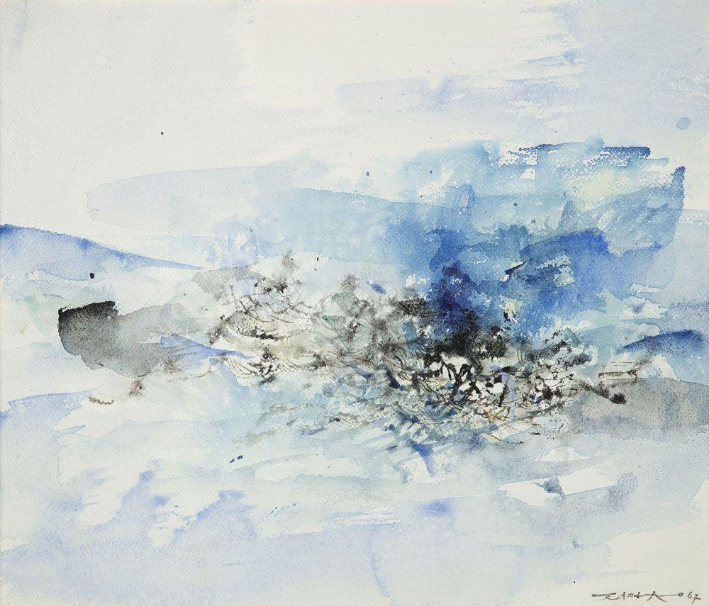 Zao Wou Ki Sans Titre 1967 Encre Et Aquarelle Sur Papier 31 5