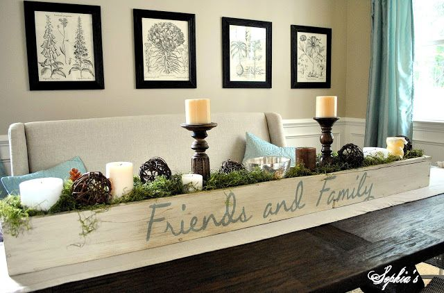 Planter Box Centerpiece Dining Room Table Centerpieces