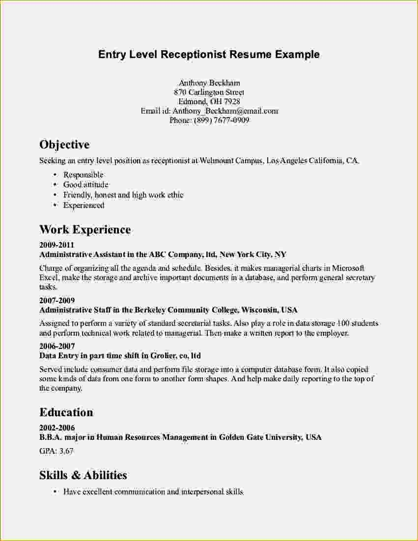 30+ Entry level job resume objective Resume Examples