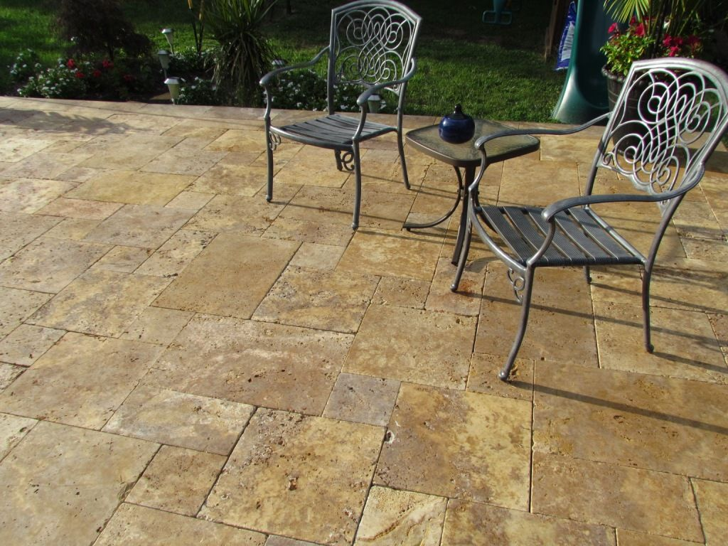 Scabos Travertine French Pattern Antique Gold