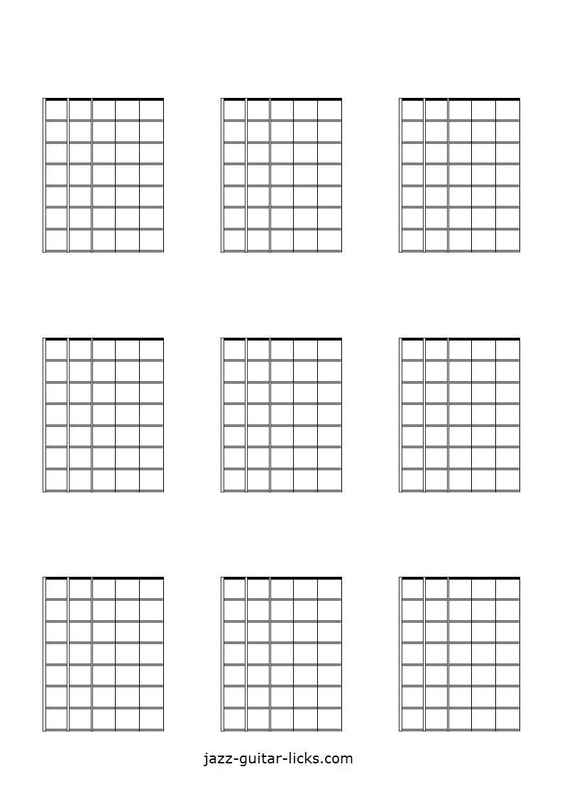 Blank Guitar Chord Diagrams | Guitar chords, Guitar ...