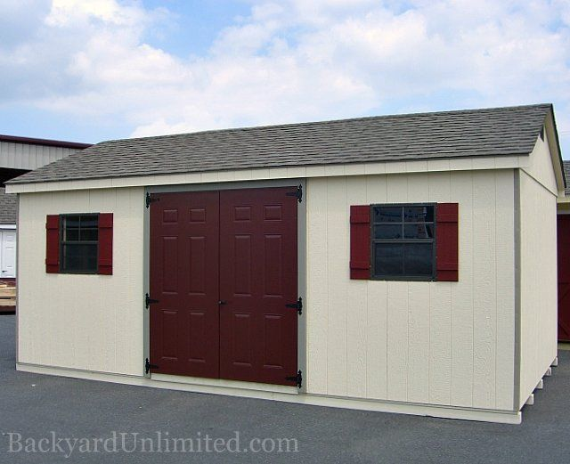 12u0027x20u0027 A-Frame Shed with Painted Fiberglass Doors and Gable Vent- : gable vent doors - pezcame.com