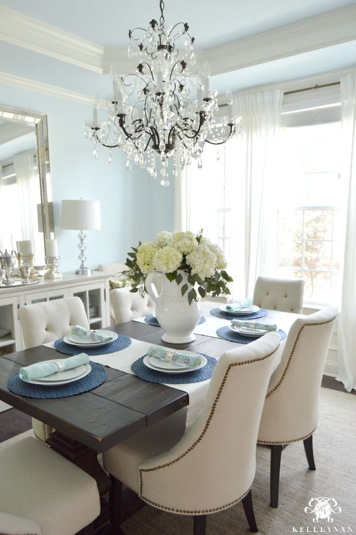 Amazing White Hydrangea Arrangement In Formal Dining Room With Interior Design Ideas Inesswwsoteloinfo