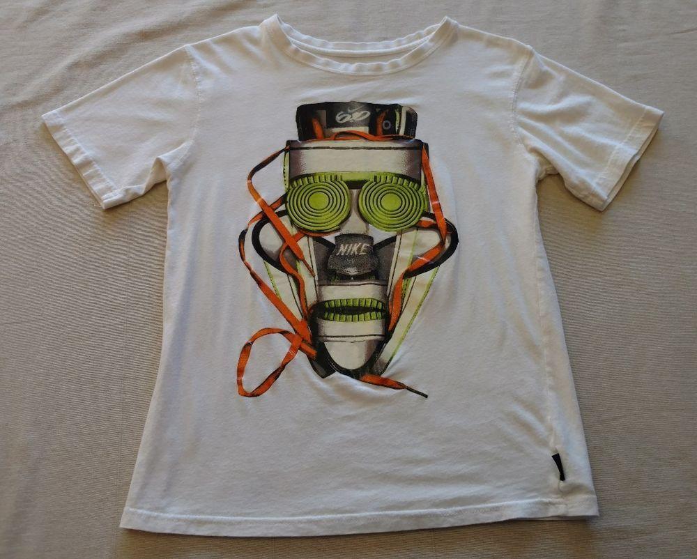 543aebb5 Boys Kids NIKE 6.0 Short Sleeve T-Shirt Tee White Graphic Sz Medium (10-12)  EUC #Nike #Everyday