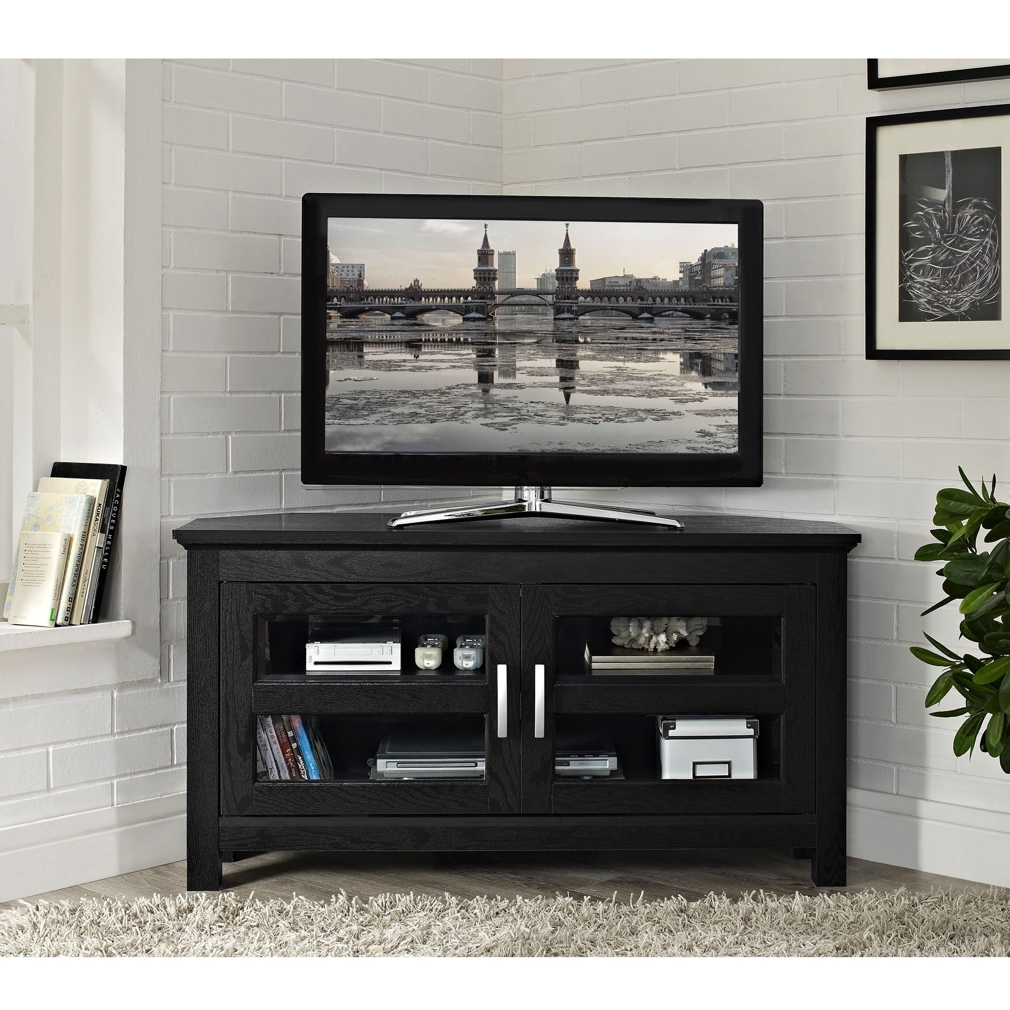 Overstock Com Online Shopping Bedding Furniture Electronics Jewelry Clothing More Black Corner Tv Stand Corner Tv Stand Corner Tv Stands