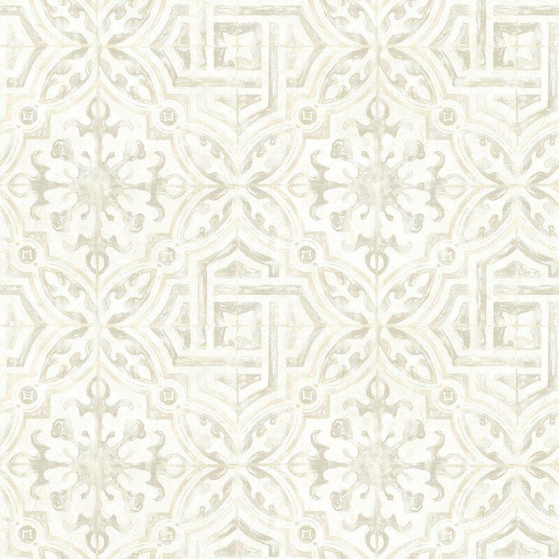 Pin By Brittpm On Bedroom In 2021 Farmhouse Wallpaper Tile Wallpaper Geometric Wallpaper