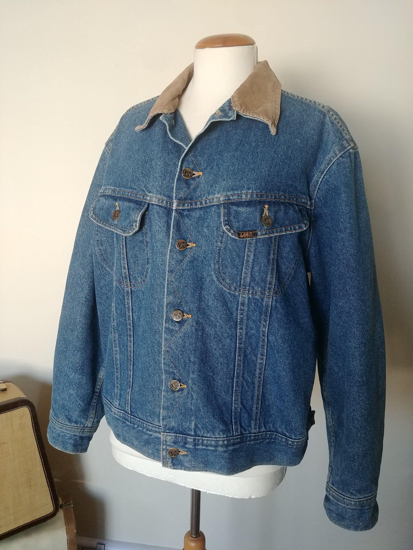 Vintage Lee Storm Rider Blanket Lined Jean Jacket Mens Medium Lined Jeans Lined Denim Jacket Jackets