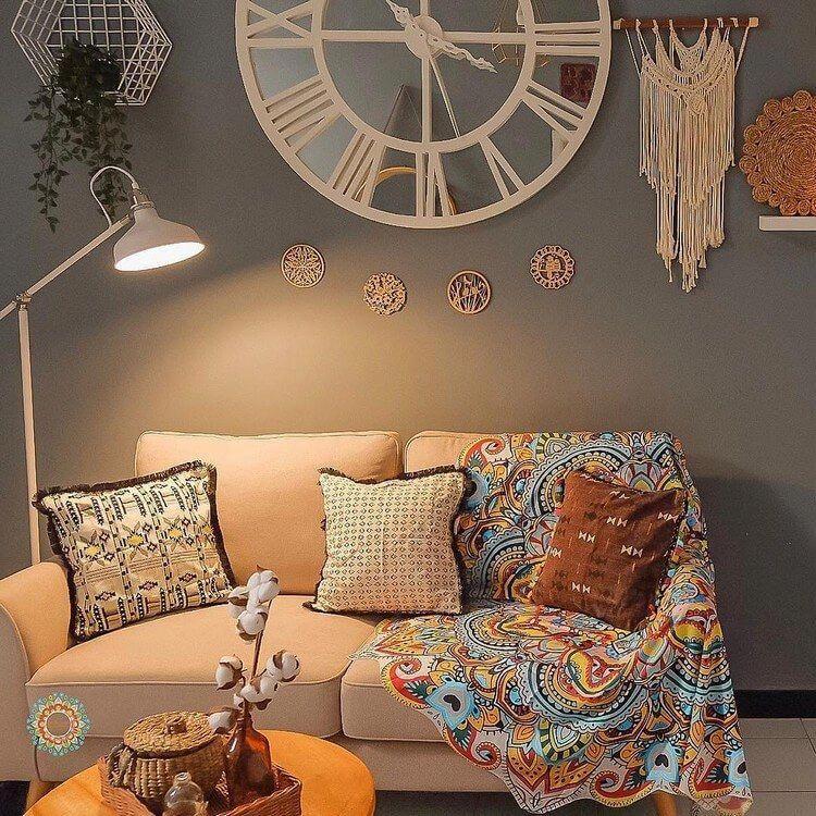 Efficient boho chic home inspo Bohemian style living