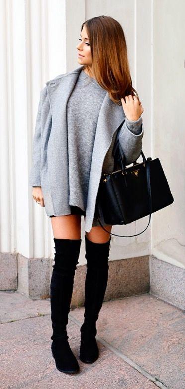 Coat Zara // Sweater Acne // Boots Stuart Weitzman // Bag Prada
