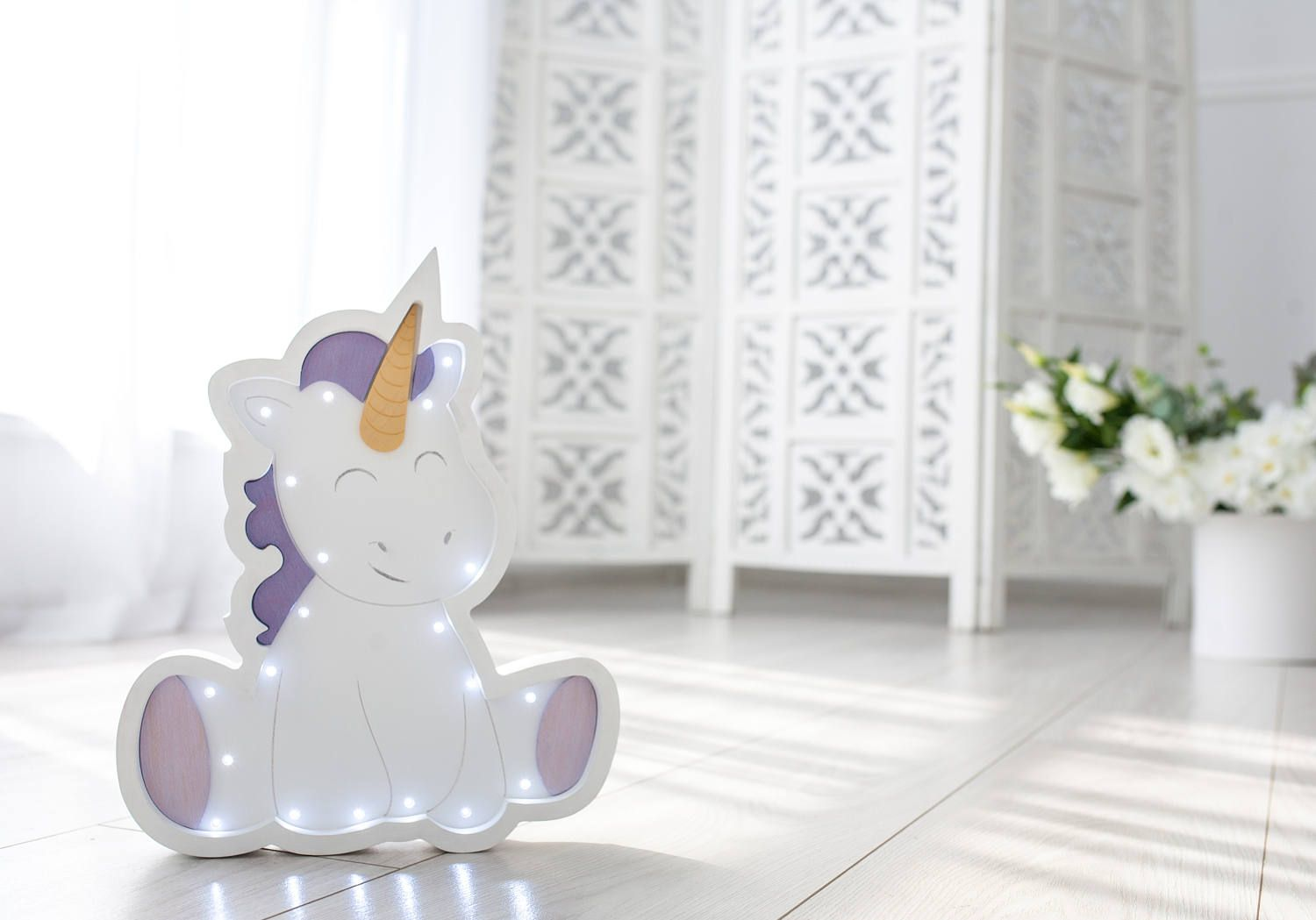 Night Light With Dimmer Unicorn Nursery Unicorn Nursery Decor Unicorn Lamp