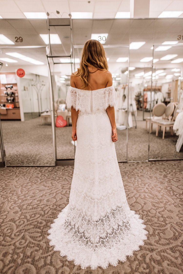 Rehearsal Dress Shopping At David S Bridal Just Josie Boho Wedding Dress Bohemian Sheath Wedding Dress Lace Wedding Dresses Under 500