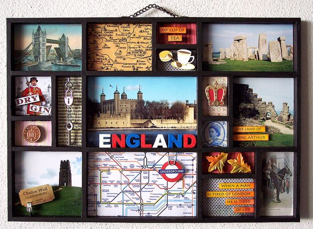 I Heart England Travel Shadow Boxes Travel Keepsakes Travel Crafts