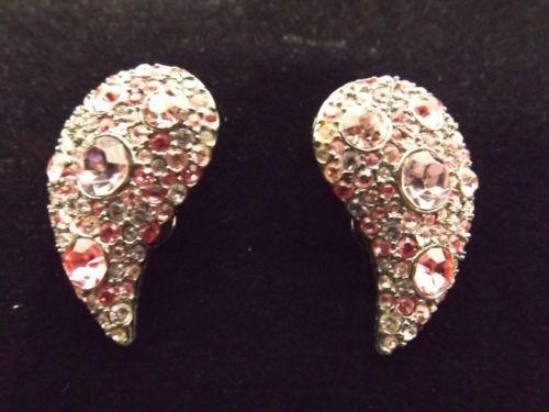 KJL Kenneth J Lane Pink Paisley Clip Earrings   eBay