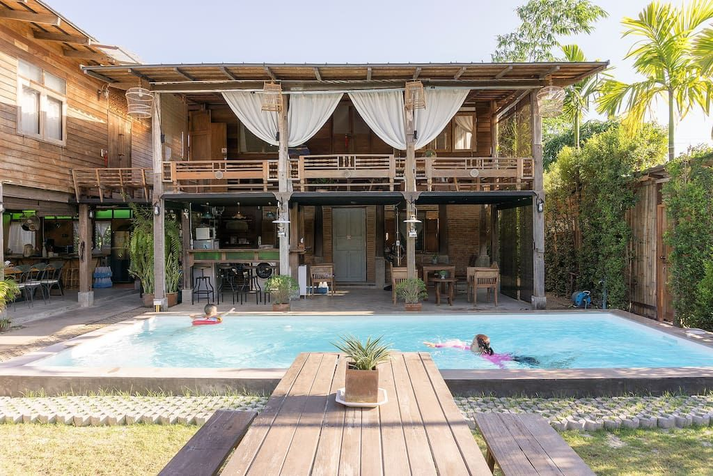 Thai Traditional Home Swimming Pool Houses For Rent In Chiang Mai Thailand Retreat House Swimming Pool House Thai House