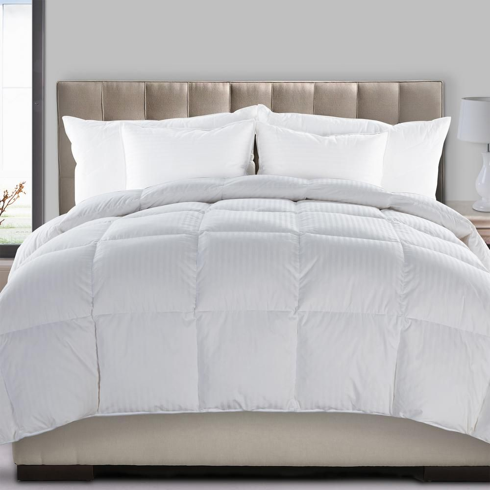 Hyper Down Medium Warmth And Feather Full Queen Blend Comforter White