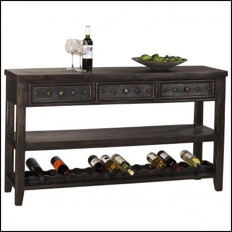 Sofa Table With Wine Rack