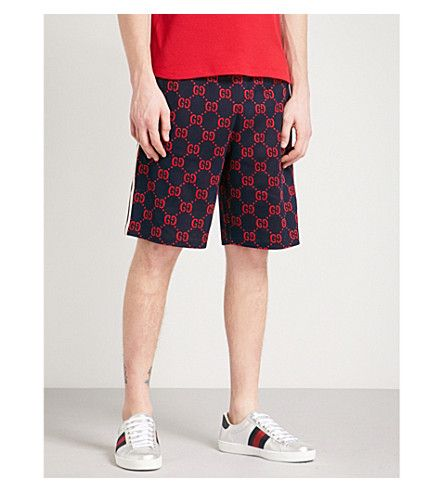 837d47e8cf GUCCI Logo intarsia cotton-jersey shorts. #gucci #cloth # | Gucci ...