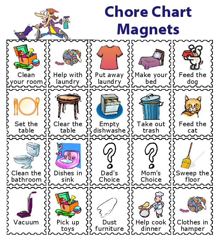 make a magnetic checklist for your kids school checklist bedtime rh cz pinterest com free printable chore chart clipart free printable chore chart clipart