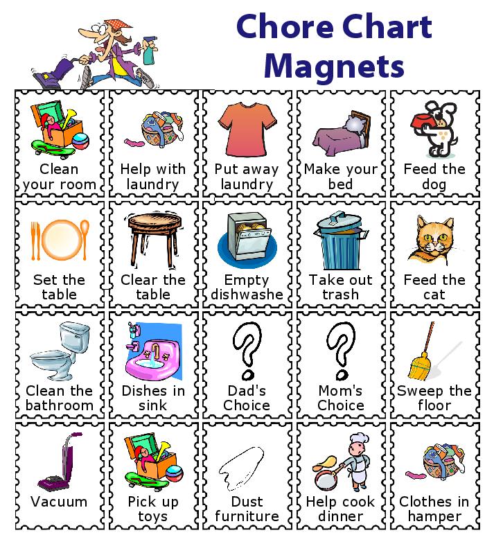 make a magnetic checklist for your kids school checklist bedtime rh cz pinterest com free printable chore chart clipart printable chore chart clipart
