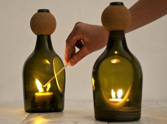 les bouteilles en verre relook es en objets d co bouteille en verre la bouteille et relooker. Black Bedroom Furniture Sets. Home Design Ideas
