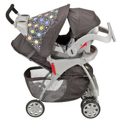 evenflo journey stroller with embrace infant seat travel system atom grey nice gender neutral. Black Bedroom Furniture Sets. Home Design Ideas