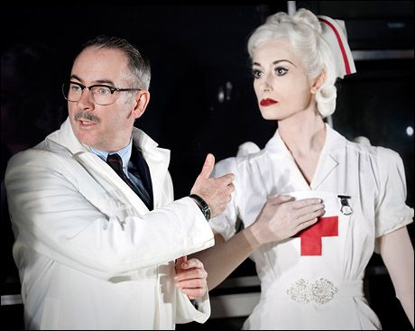 """Vintage-style nurse uniform worn by Michela Meazza in the 2010 play """"Really Old, Like Forty-Five"""""""
