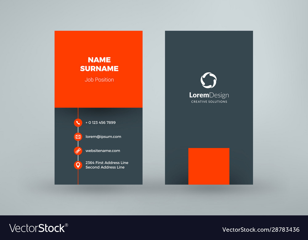 Vertical Double Sided Business Card Template In Double Sided Business Double Sided Business Cards Business Card Template Photoshop Business Card Template Word