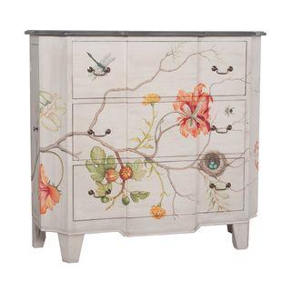 floral decoupage furniture. Devon Vintage Floral 3-drawer Chest Decoupage Furniture