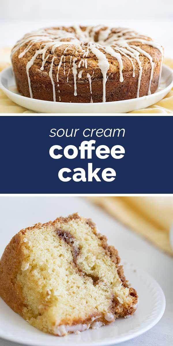 Sour Cream Coffee Cake Tender And Moist Taste And Tell Recipe In 2020 Coffee Cake Sour Cream Coffee Cake Breakfast Cake