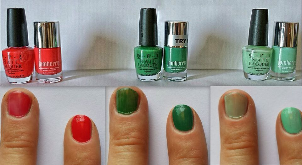 Great comparison! OPI vs Jamberry polishes! If you don\'t like the ...