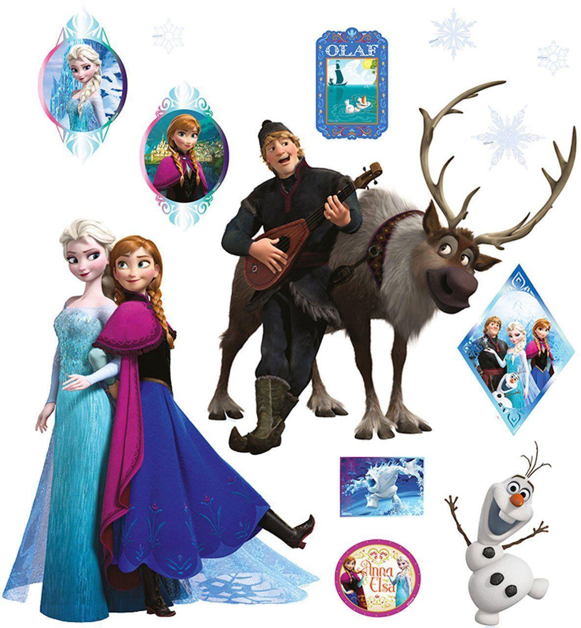 ❄ Frozen Kinderzimmer: 13 tlg. Set _ Wandtattoo / Sticker _ ...