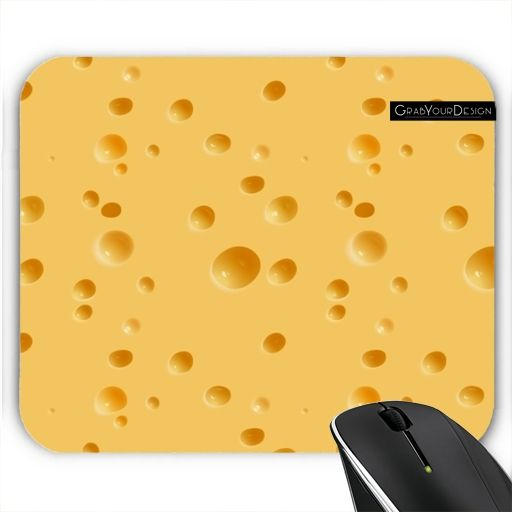 GrabYourDesign - Mousepad Say: CHEESE  - by Grab My Art