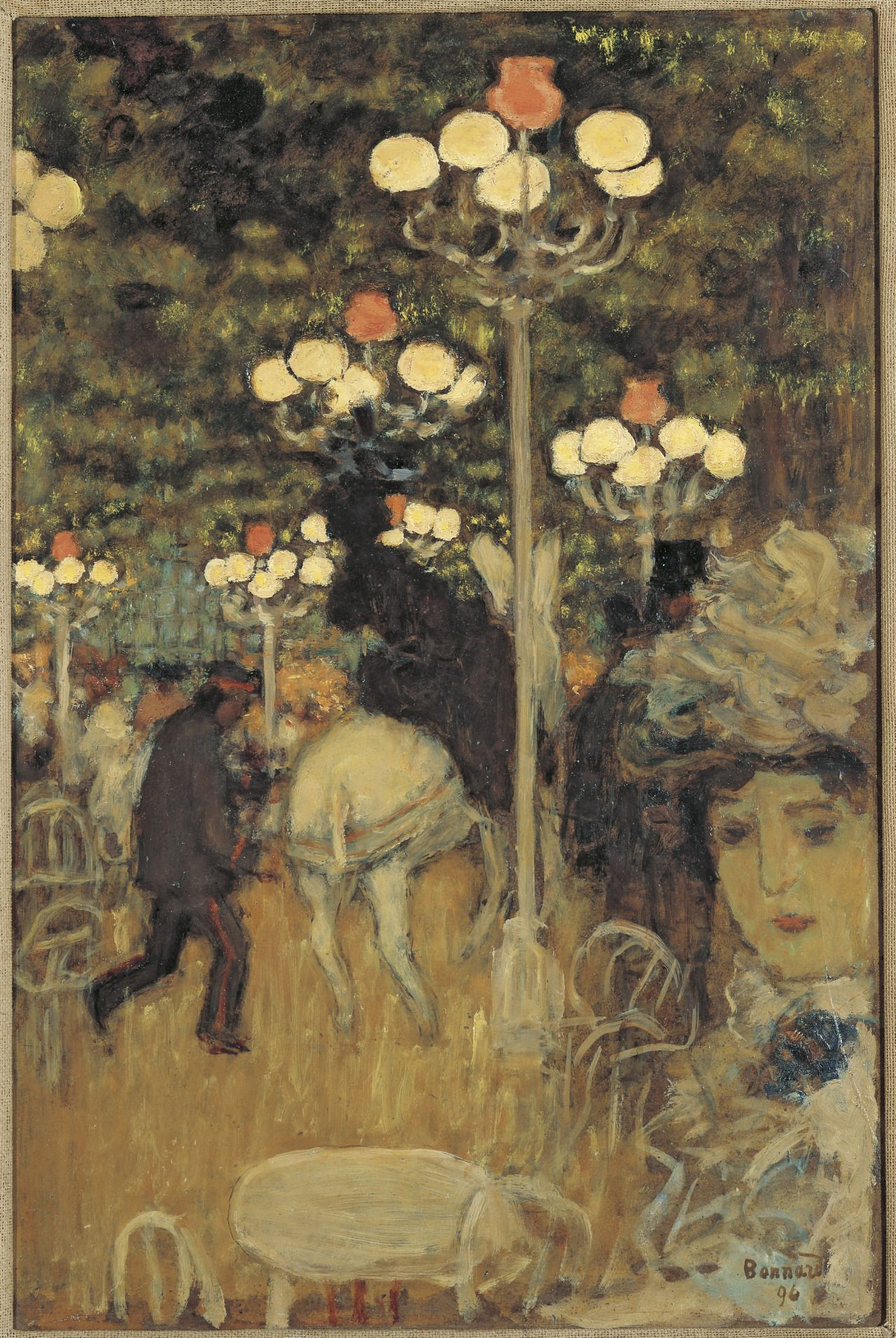 Pierre Bonnard (French, 1867-1947) - Café dans le Bois, dit aussi Jardin de Paris, 1896