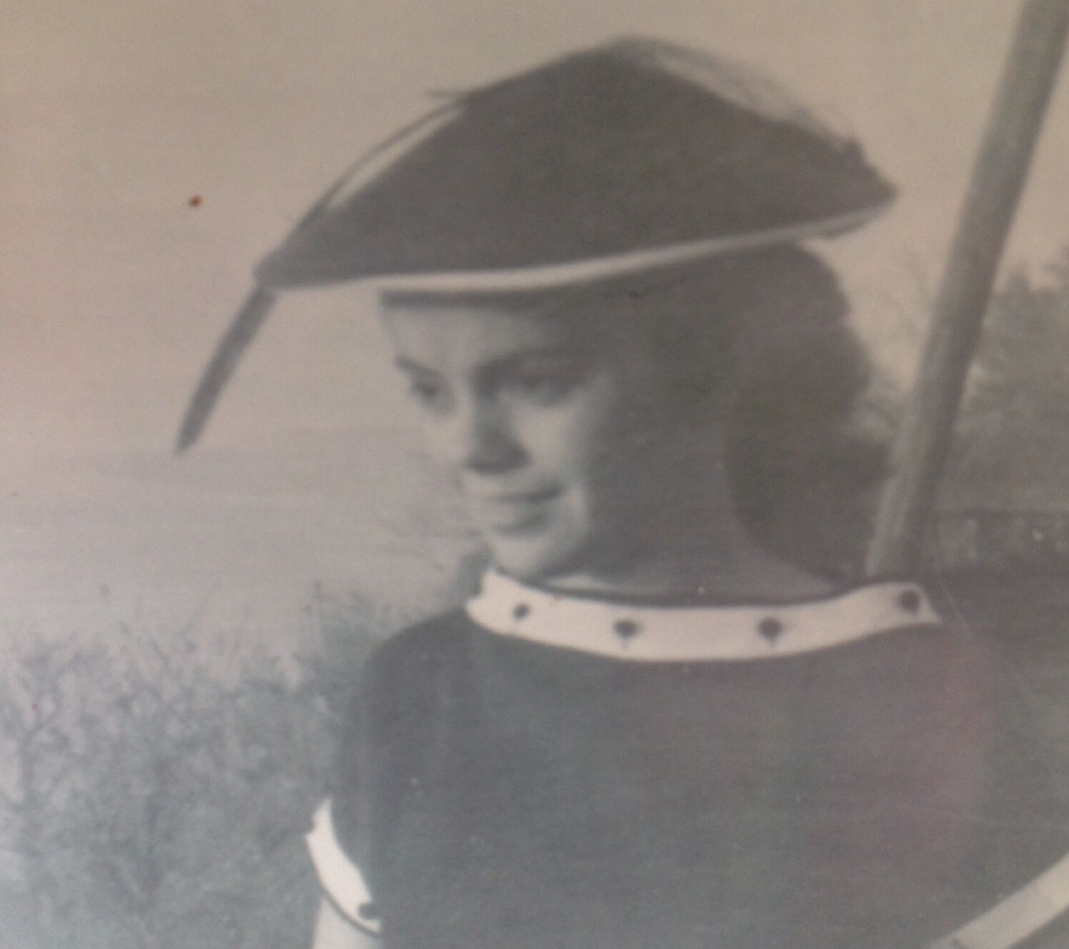 My mama Opal, at age 16. Taken near the Mississippi River in Natchez, MS.  1954.