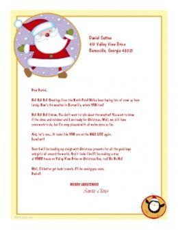 Free Printable Santa Letters  Free Printable Santa Letters And Santa