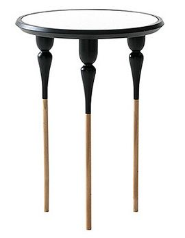 Philippe I black side table by reputable Italian brand, Casamania. Browse all products by Casamania and other brands at Envilu.