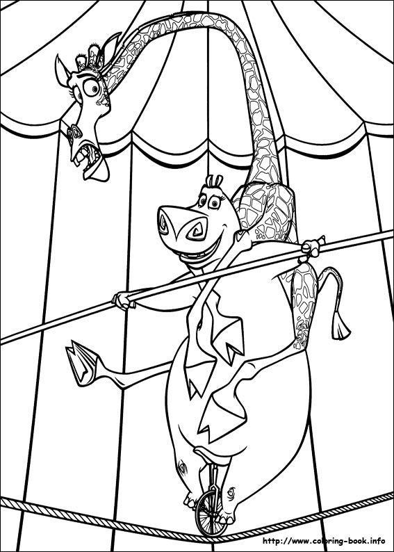 Madagascar 3 coloring picture Coloring pages Coloring