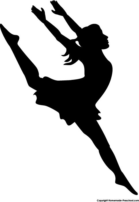 Dancing Girl Silhouette  abea854b9