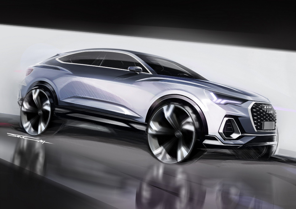2020 Audi Q3 Sportback Shows There S No End To The Crossover Coupe Craze Carscoops Audi Q3 Car Interior Sketch Audi