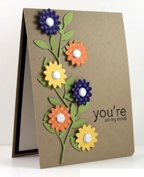 New flower style handmade card 2014 cards pinterest flower new flower style handmade card 2014 m4hsunfo