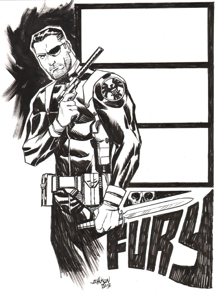 Nick Fury by Dave Johnson