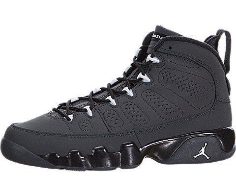 hot sales 64906 fcc6f Nike Air Jordan 9 Retro BG 302359-013 Anthracite White Black Kids Basketball
