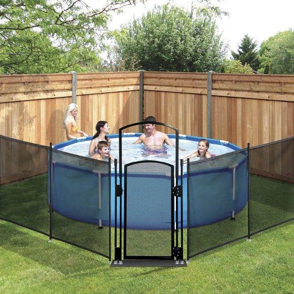 Portable pool fence starter kit clark rubber live - Clark rubber swimming pool above ground ...
