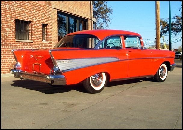 1957 Chevrolet Bel Air Sedan 283 270 Hp 3 Speed 1957 Chevrolet