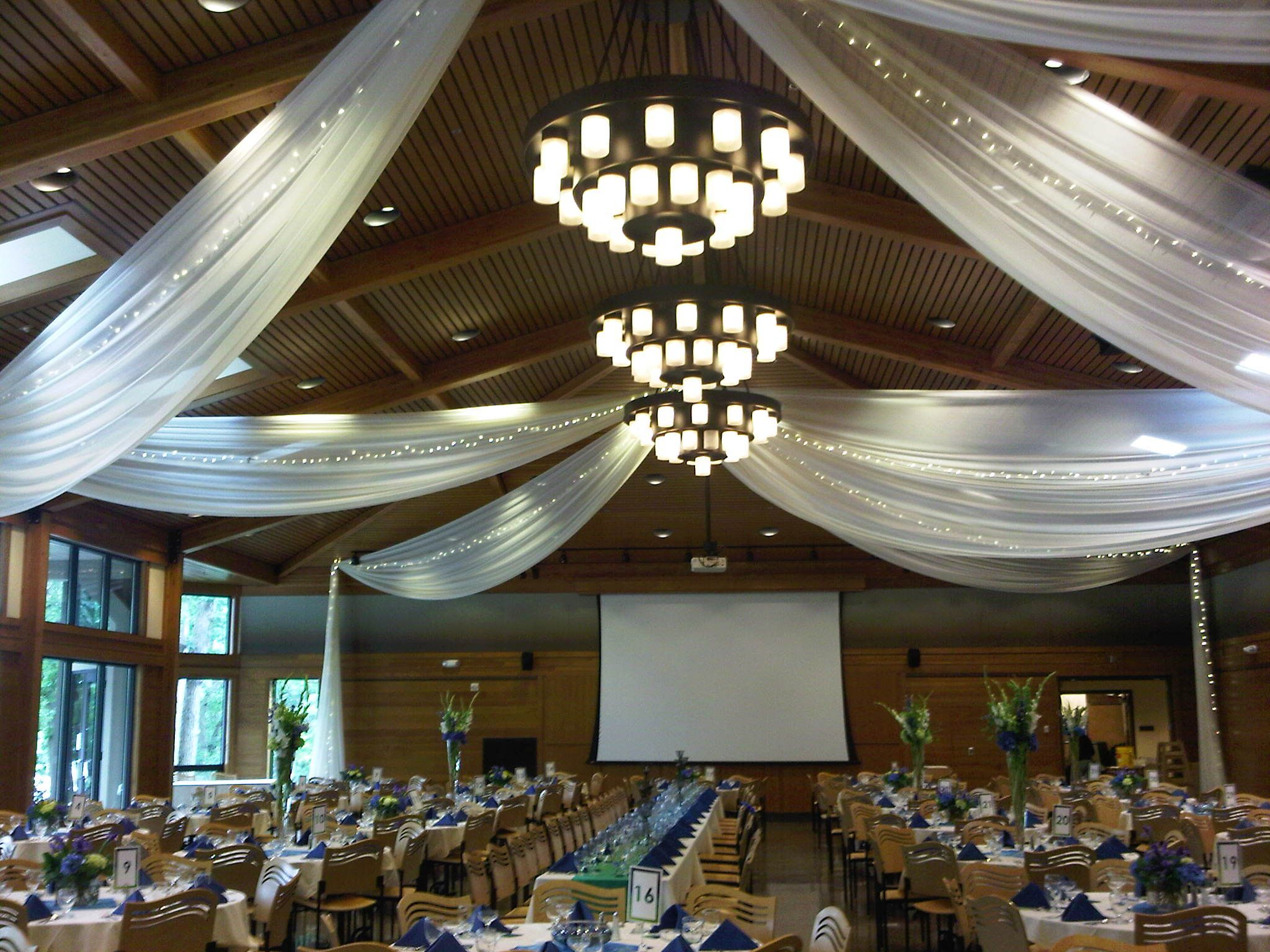 wedding hang for with events tulle drapes floor lights to ceiling dance pin draping how pinterest
